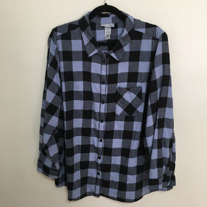 CATHERINES plaid button up flannel